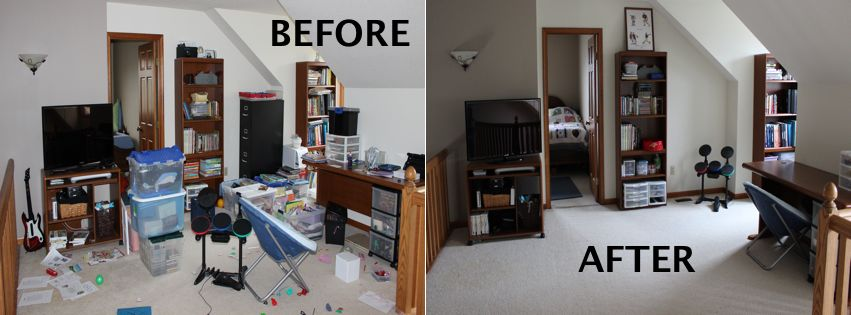Image result for before and after clean living room images