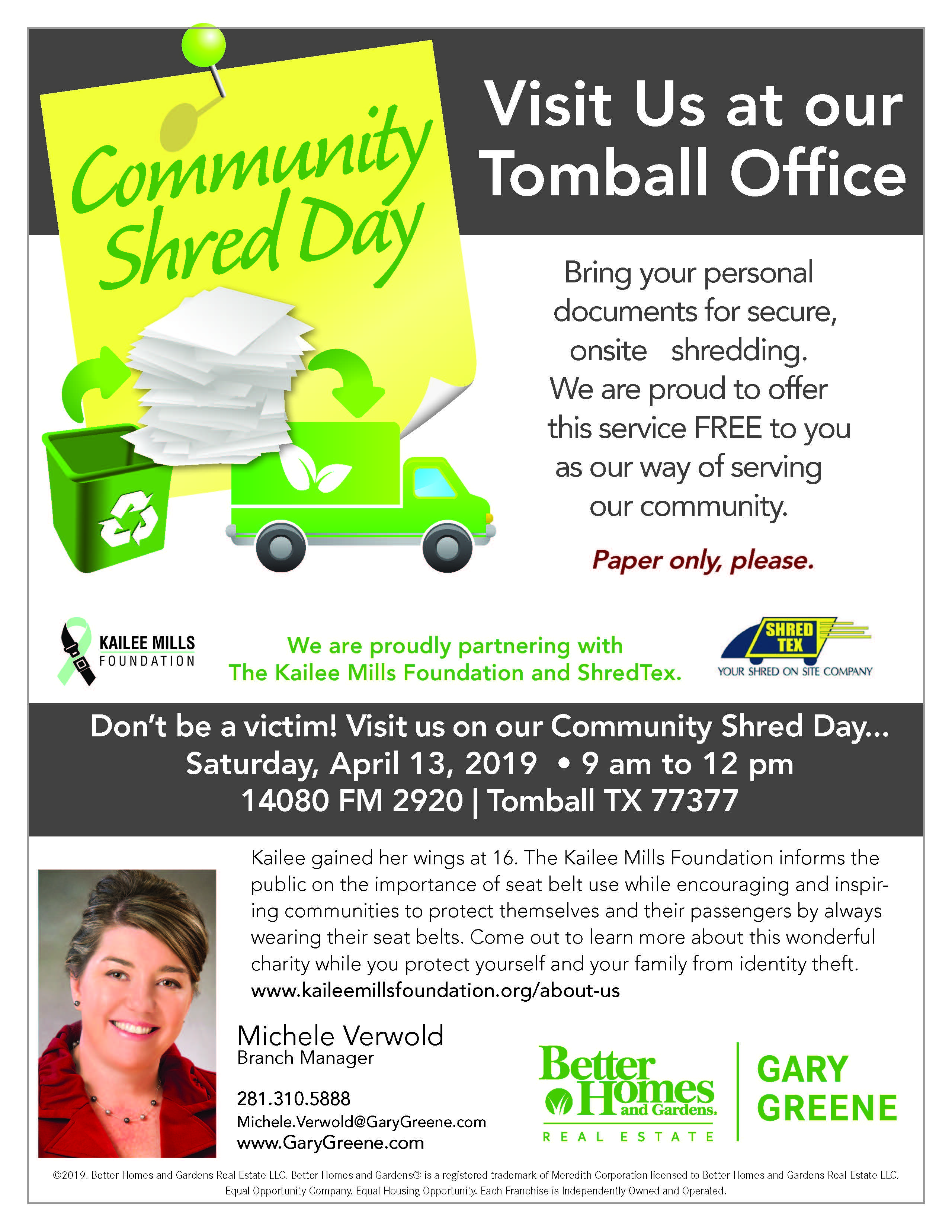 You're Invited! Community Shred Day | Cities and Neighborhoods