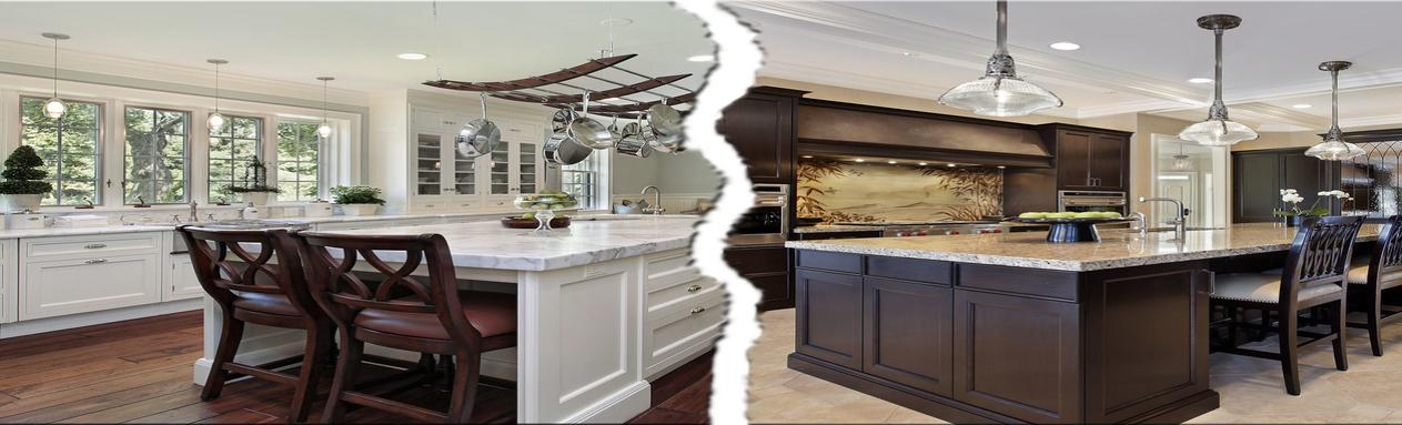 Light Vs Dark Kitchen Cabinets What To Choose Living In Your Home Era M Connie Laplante Real Estate