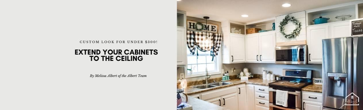 How To Extend Your Kitchen Cabinets To The Ceiling Lifestyle Melissa Albert